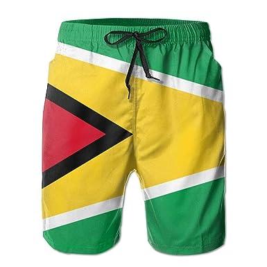 Mens Beach Shorts, Guyana Flag Yoga Workout Shorts for Men ...