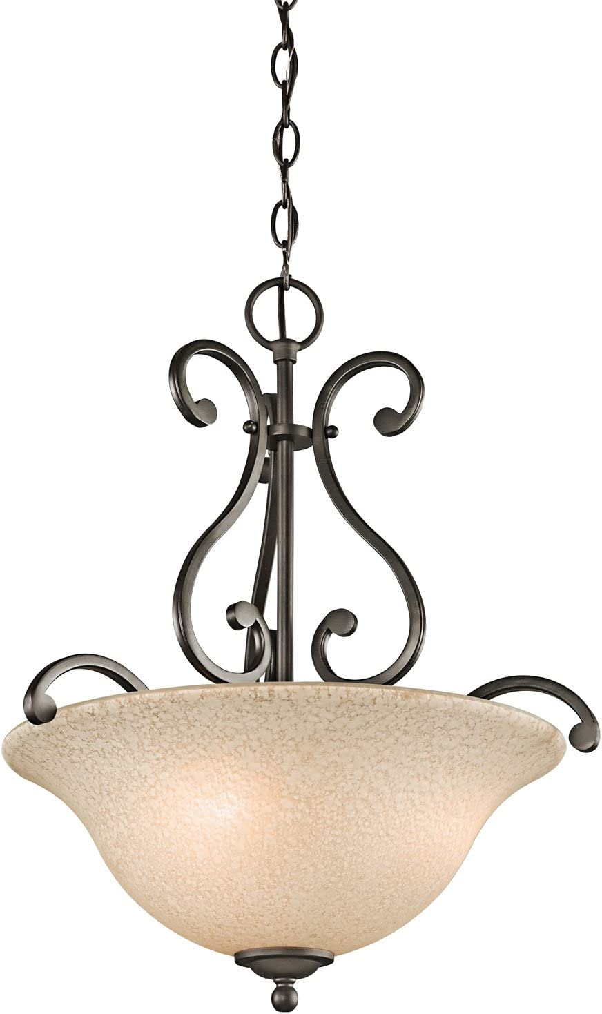 Kichler 43227OZ Camerena Pendant, 3 Light Incandescent 300 Total Watts, Olde Bronze