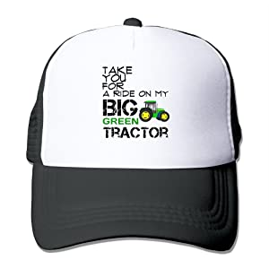 Style Take You For A Ride On My Big Green Tractor Mesh Adjustable Caps Cool Baseball Caps