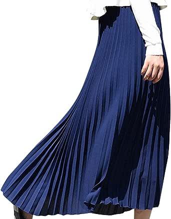 Covermason Falda Plisada para Mujer, Verano, Bohemio, Faldas de ...