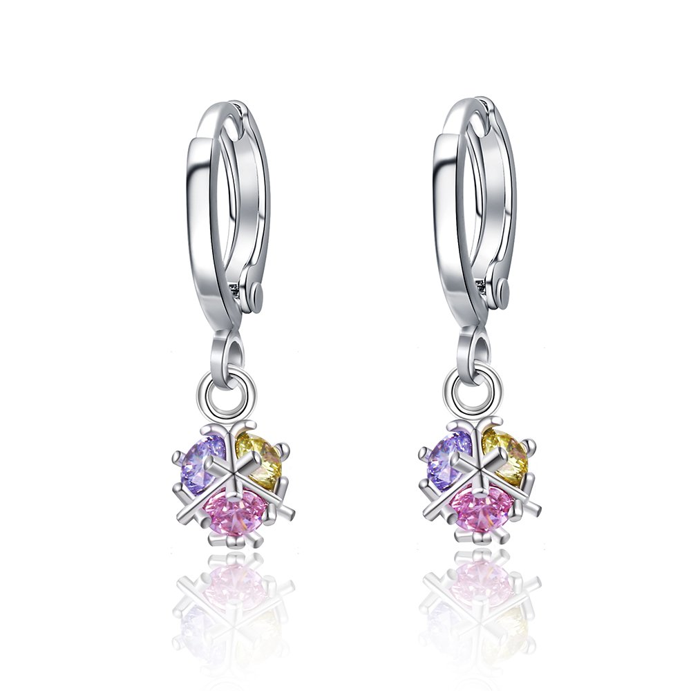 Xuping Black Friday White Synthetic Cubic Zirconia New Design Colorful Earrings for Women Jewelry Cyber Monday Gift XE2222-E04