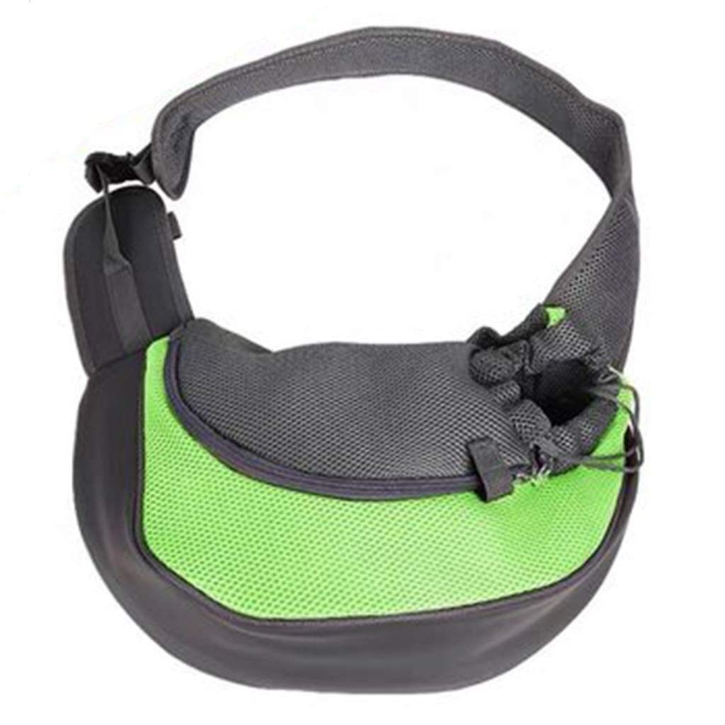 Backpacks Pet Bag Small Pet Out Diagonal Bag Mesh Breathable Cat Bag Folding Car Carrying Bag Gift (color   Green, Size   S)