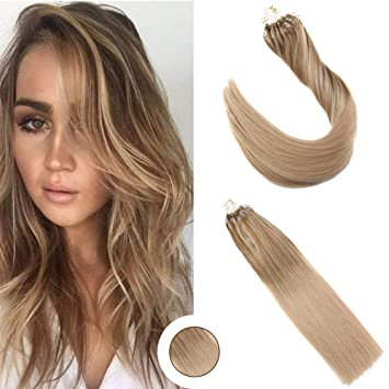Amazon Com Ugeat 18inch Micro Ring Ombre Hair Extensions Light