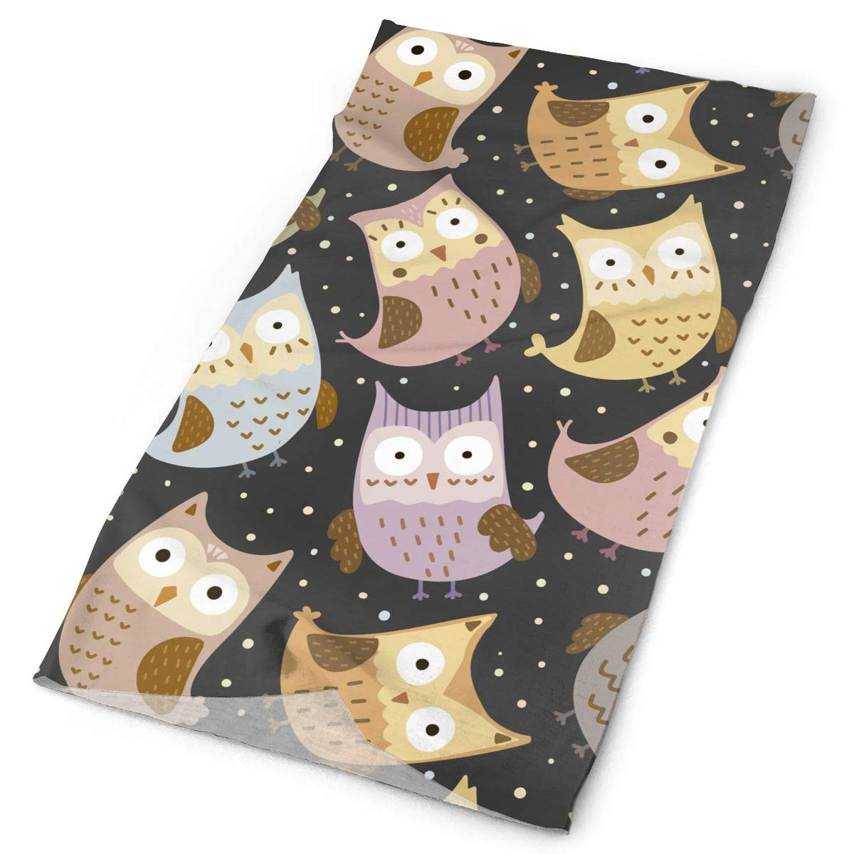 Funny Owls Unisex Fashion Quick-Drying Microfiber Headdress Outdoor Magic Scarf Neck Neck Scarf Hooded Scarf Super Soft Handle