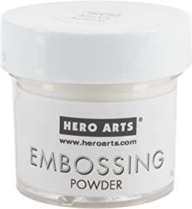 Hero Arts PW118 Embossing Powder, White Satin Pearl, 1-ounce