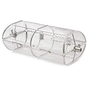 Onlyfire Universal Stainless Steel Rotisserie Grill Peanut Beans French Fries Basket Fits for Any Gas Grill