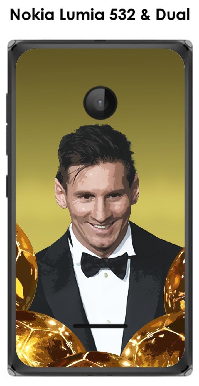 Onozo Carcasa Nokia Lumia 532 & Dual Messi el balón de Oro: Amazon ...