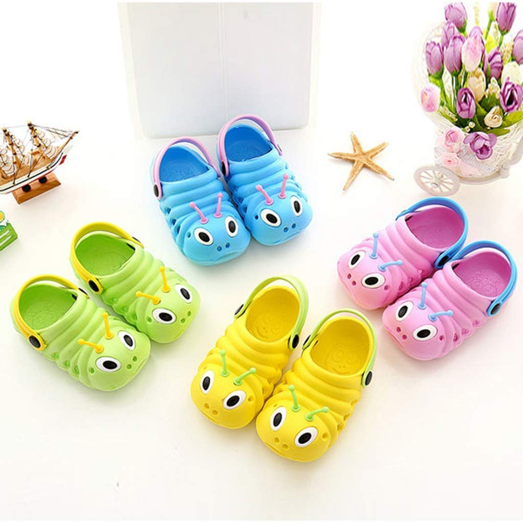 NEEKEY Toddler Kid Girls Boys Sandals Cute Cartoon Beach Caterpillar Summer Slippers Flip Shoes