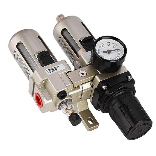 Luftfilterregler 1st Ac3010 03 Druckluftregler Aus Aluminiumlegierung Druckfalle Wasserfilter 3 8 Zoll Gewerbe Industrie Wissenschaft