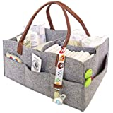 Organizador de pañales para bebé,cesta de fieltro para almacenamiento de pañales, cesta de almacenamiento de bebé, bolsa…