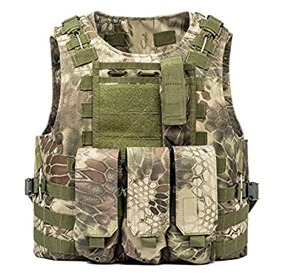 Invenko Tactical Molle Airsoft Vest Paintball Combat Soft Vest Python Green