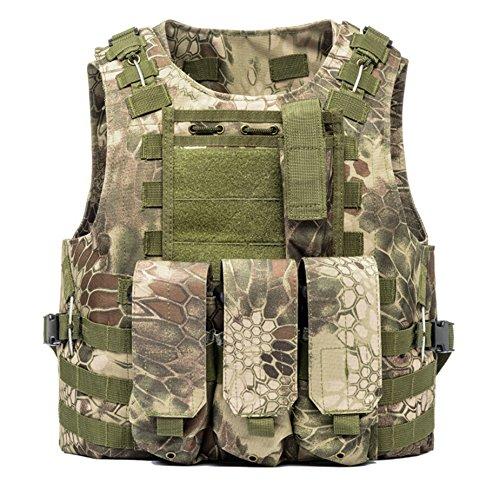 Invenko Tactical Molle Airsoft Vest Paintball Combat Soft Vest Python Green
