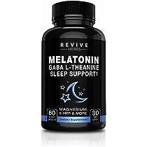 Melatonin, GABA, L-Theanine - Sleep and Relaxation Support 60 Veggies Capsules ...