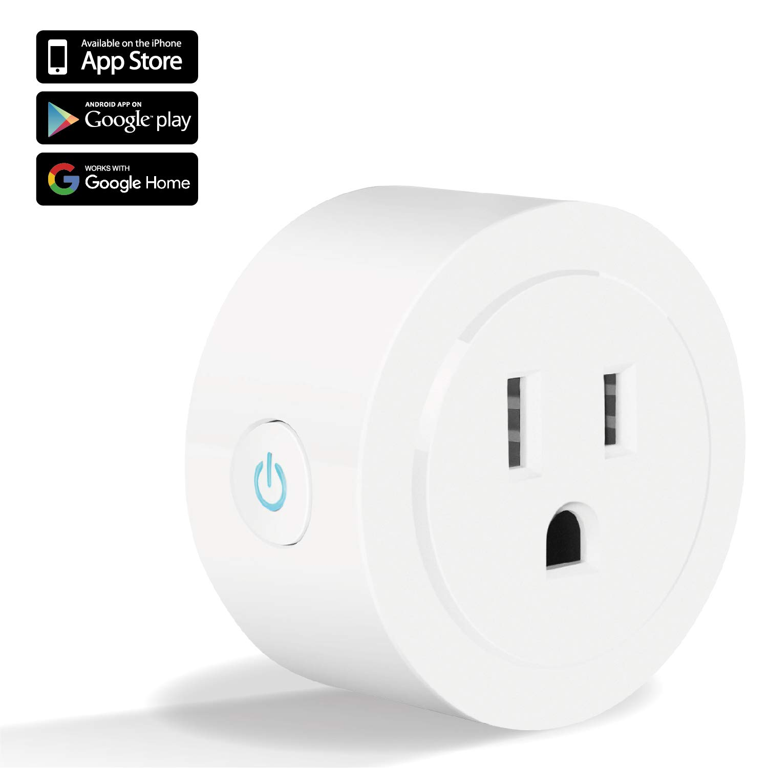 TNP Smart Plug Mini WiFi Outlet - Remote Control Smart Socket Wireless Compatible with Alexa Echo Google Home, No Hub Required, Timer Energy Meter Switch Socket Android, iOS (White) - 1 Pack