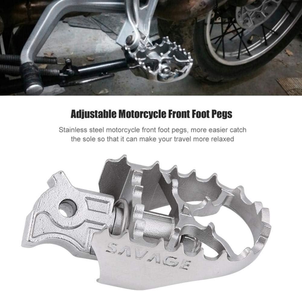 ETbotu Avant Large Repose-Pieds Pied Chevilles Repose-Pieds pour v/éhicule de Voiture BMW R1200gs//Adv F800gs Yamaha Wr25