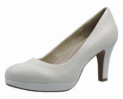 88b5c214bc4ee2 Tamaris 22403-22 femmes Escarpins cuir, blanc, Taille 42: Amazon.fr ...