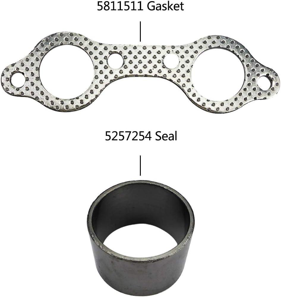 3610047 Exhaust Pipe Manifold Gasket Spring Rebuild Kit Fit for Polaris UTV Ranger RZR 800 EFI 2008-2010 7041687 Spring Donut Seal Exhaust Gasket Set Compatible with 5811511 5257254
