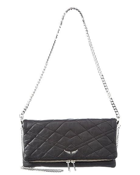 6ed415286a Zadig   Voltaire Rock Matelasse Leather Shoulder Bag