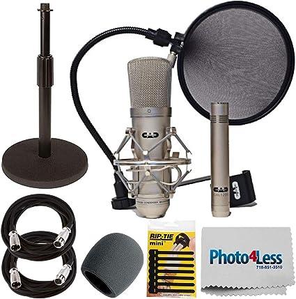 Cad Audio Studio Pack + Soporte de micrófono de Escritorio + ...