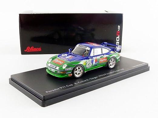 Schuco Dickie 450888100 - Número de Porsche 911 Cup, Start 25, tipo 993, Emmanuel Collard, Winner 1996 Porsche Super Cup, Resin, escala 1: 43, ...