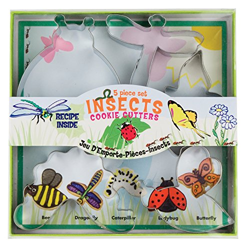 - Fox Run 36009 Insect Cookie cutters, 5.75 x 5.75 x 1 inches, Metallic