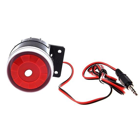 SODIAL(R) Mini Sirena con cable para sistema de alarma de ...