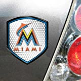 MLB Florida Marlins Team Shield Automobile Reflector
