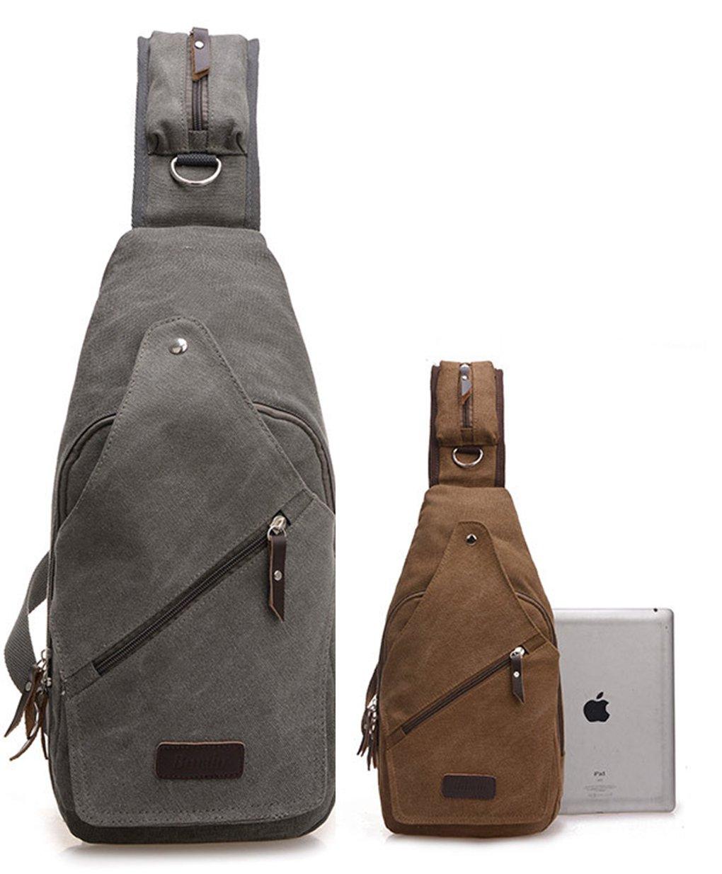 LemonGirl - Petit sac à dos ou poitrine à bandoulière - Idéal comme sac de voyage, de randonnée, camping, etc. - Pour homme et femme XW250-Green