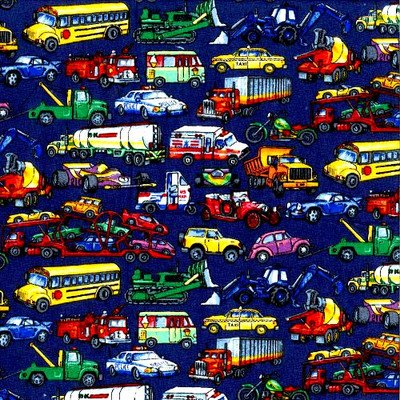 SheetWorld Fitted Pack N Play (Graco Square Playard) Sheet - Vehicles Galore - Made In USA