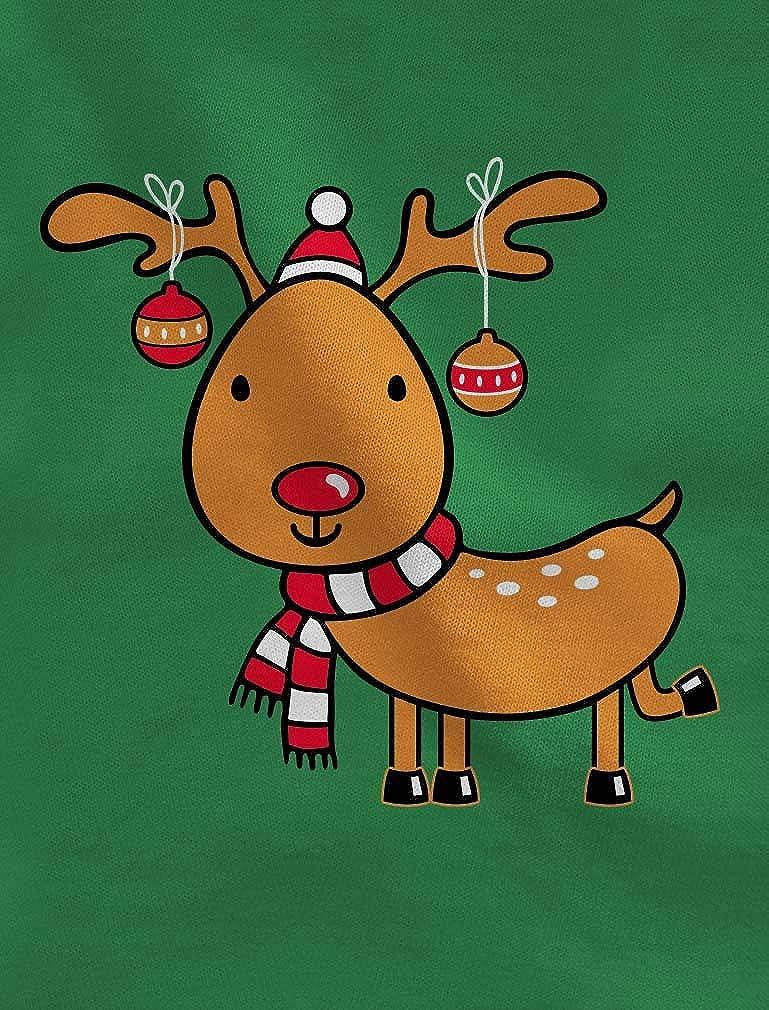 Tstars Reindeer Lights Funny Christmas Toddler//Kids Long Sleeve T-Shirt