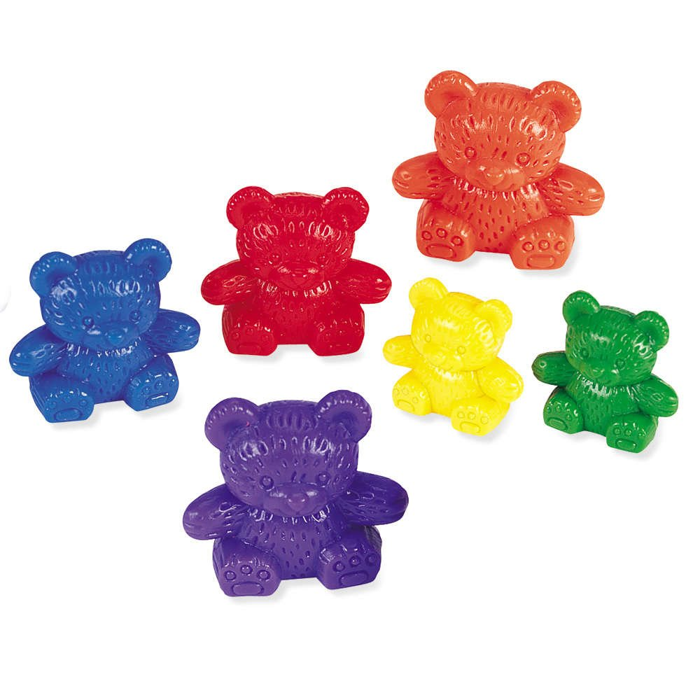 Learning Resources LER0744 Three Bear Family Counter Set, Rainbow, Set of 96 by Learning Resources