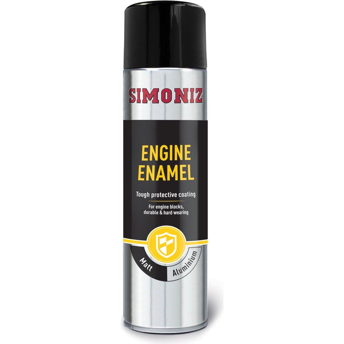 Simoniz Aluminium Engine Enamel One Coat Tough Paint Spray Can - 500ml HOLTS LOYSIMVHT31C