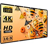 120 inch Projector Screen, Taotique 4K HD 16:9 Portable Video Projector Screen Foldable Anti-Crease Indoor Outdoor Projection