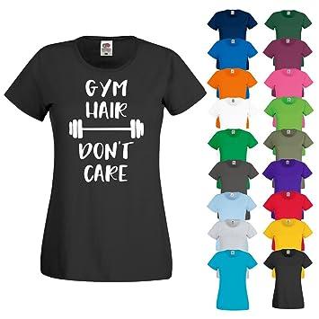 T camisa gimnasio pelo Don t care Yoga Running ejercicio ...