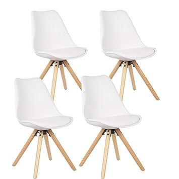 Esszimmerstuhl Küchenstuhl Stuhl 2//4er Set Essstuhl Holz Kunstleder Bürostuhl PU