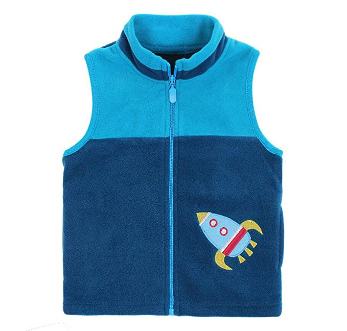 3bdf8f3a8657 Amazon.com  HUAER  Baby Boy Girl Fleece Zipper Embroidery Pattern ...
