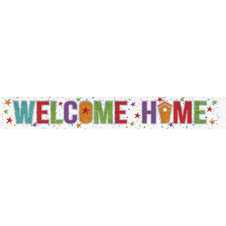 Amscan 9900049 - Festone olografico con scritta Welcome Home, 2,7 m Amscan Internatinal Ltd