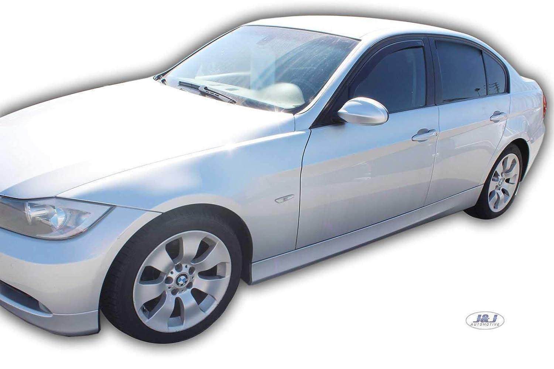 E91 4//5 Portes 2004-15 Deflecteurs dair D/éflecteurs de Vent 2pcs J/&J AUTOMOTIVE BMW 3 E90