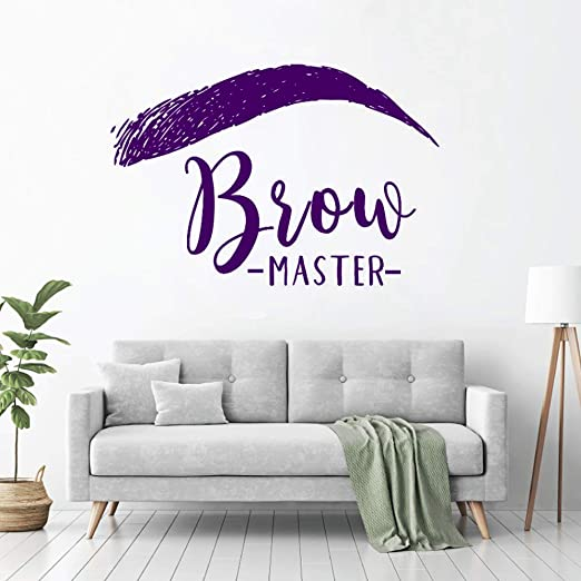xingbuxin Brow Mater Sign Window Wall Sticker Brows Microblading ...