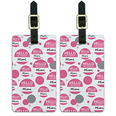Luggage Suitcase Carry-On ID Tags Set of 2 - Hello My Name Is Mi-My