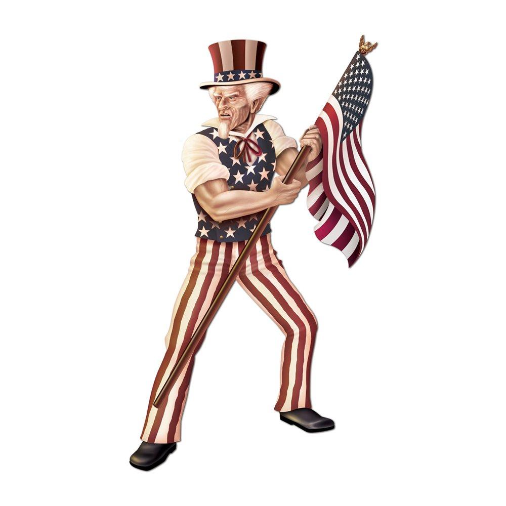Beistle Party Dekorationen Jointed Uncle Sam 5 '15,2 cm-12 Stück