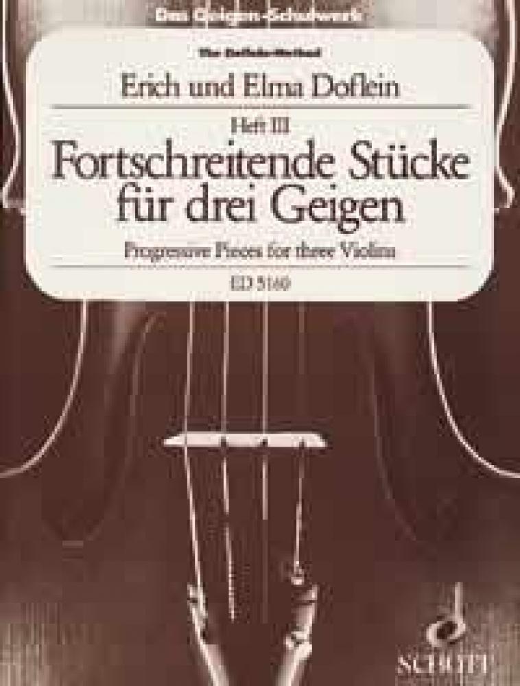 Das Geigen-Schulwerk: Triobuch 3. Band 3. 3 Violinen. Spielpartitur.