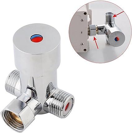 V/álvulas de grifo Fydun G1//2 V/álvula mezcladora de agua fr/ía caliente Mezclador termost/ático Control de temperatura para grifo autom/ático para muchos tubos dom/ésticos o comerciales