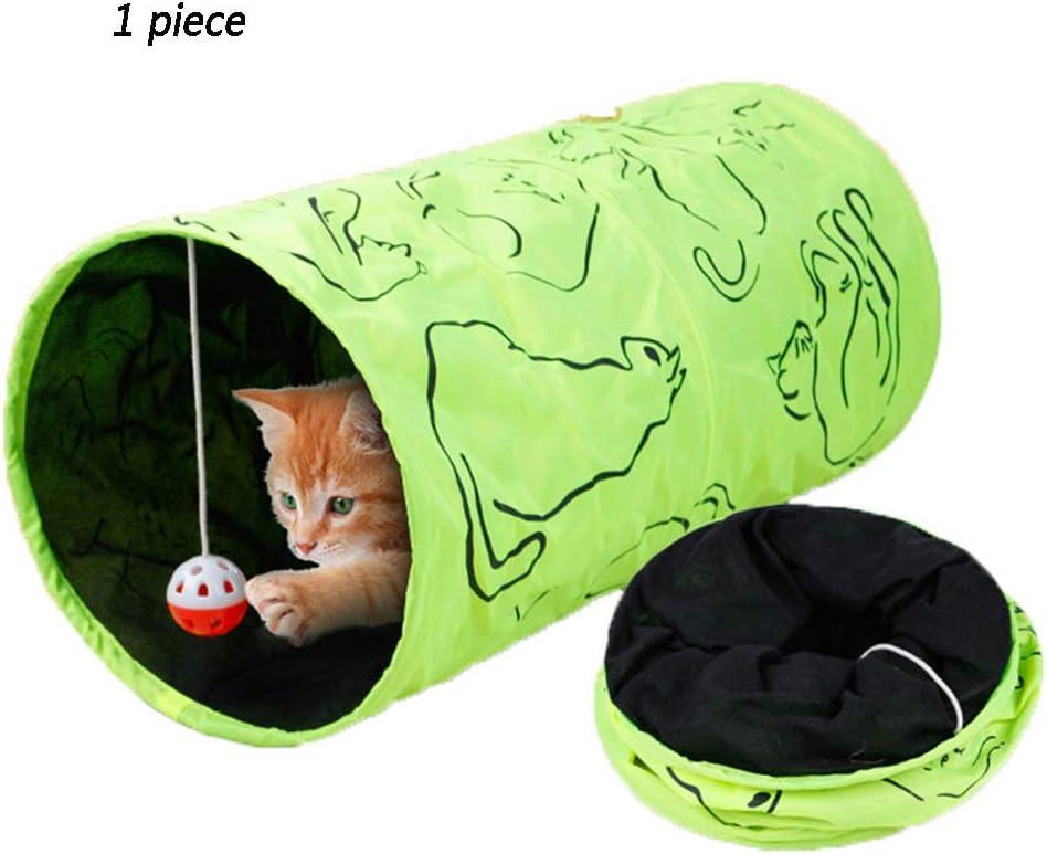 XXDYF Juguetes Gatos Tunel Gato con Pelota para Gato, Cachorro, Gatito, Conejo, Juguete Interactivo para Ocultar, Cazar y Descansar
