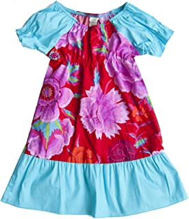 product image for Sweet by Cheeky Banana Baby/Toddler Girls dress Turquoise/Red Floral