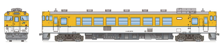 Z40-04M Zゲージ キハ40 2000番代 広島色 動力つき M車 塗装済完成品 B07542MBHK