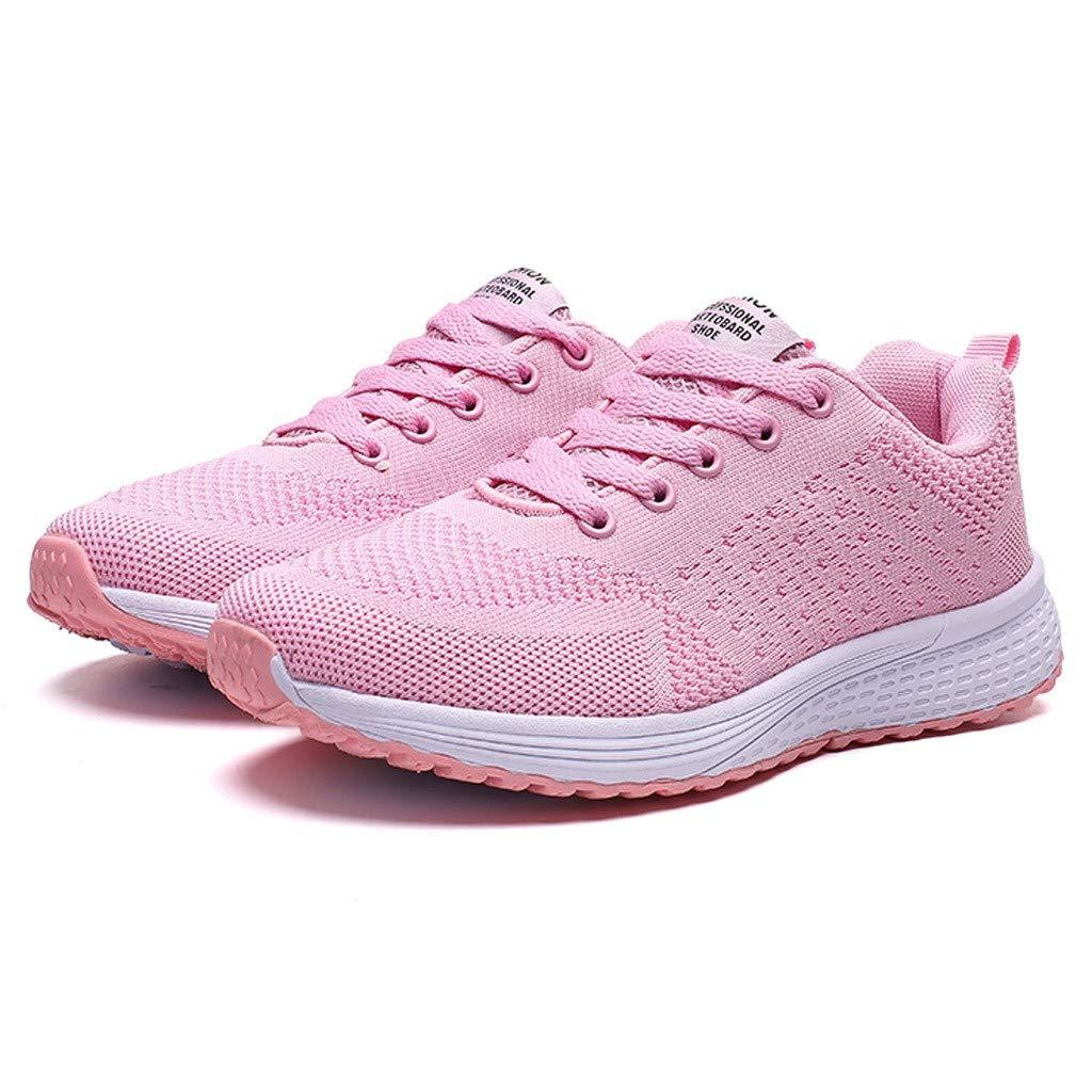 Levifun Damen Sneaker Damen Schuhe Outdoor Schuhe Freizeit Slip On Bequeme Sohlen Sports Atmungsaktiv Mesh Schuhe Fashion Sneakers L/ässige vielseitige Bequeme Flache Freizeitschuhe