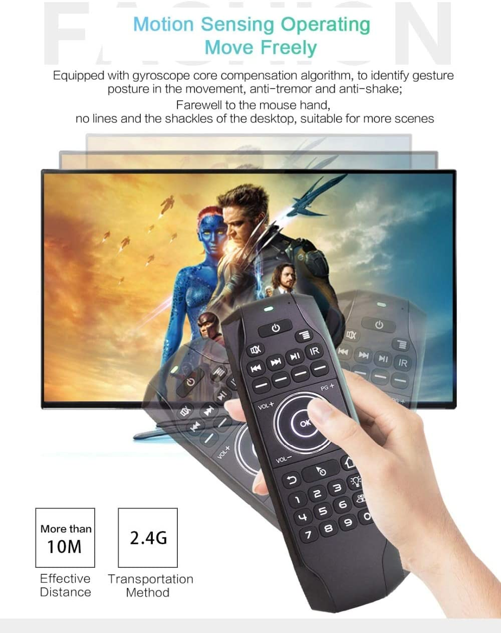 Color: English Backlit Calvas G7 Air Mouse 2.4G Wireless Remote Control IR  Learning 6 Axis Mini Keyboard English Or Russian Fly Mouse For TV BOX PC  Smart TV Computers & Accessories Computer