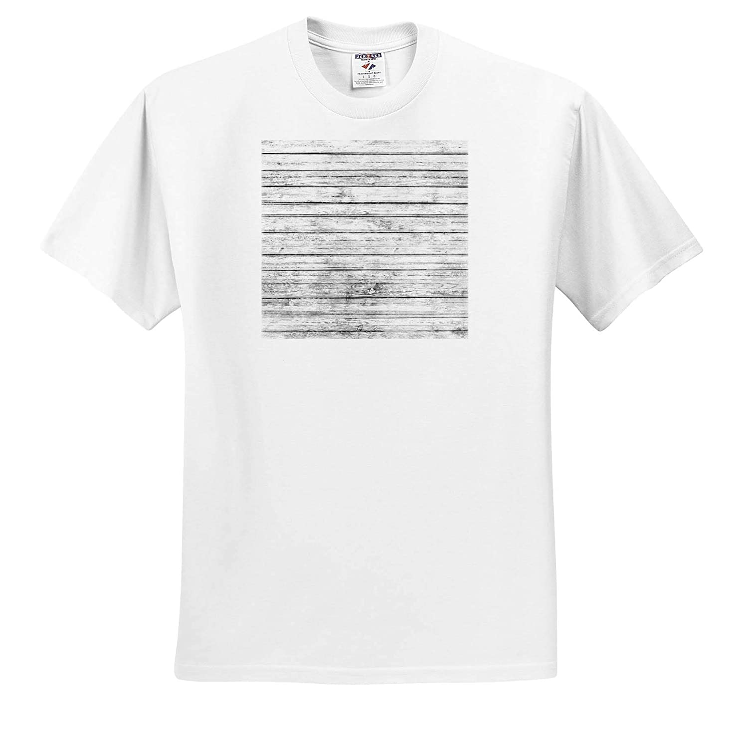 Textures Adult T-Shirt XL Country White Image of Wood ts/_316265 3dRose Anne Marie Baugh