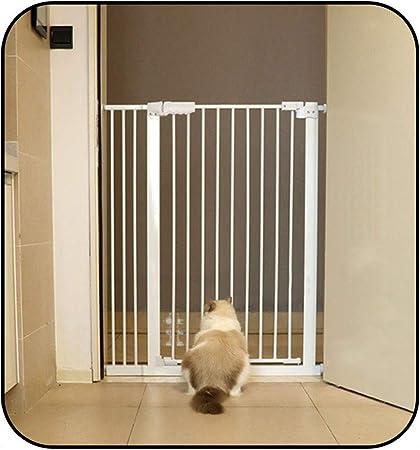 QIANDA Barrera de Seguridad Bebé Puerta de la Escalera Auto Cerrado La Seguridad Fuerte Baby Gate for Escalera, Puertas Instalar En Cualquier Lugar - Blanco (Size : 77-87cm): Amazon.es: Hogar